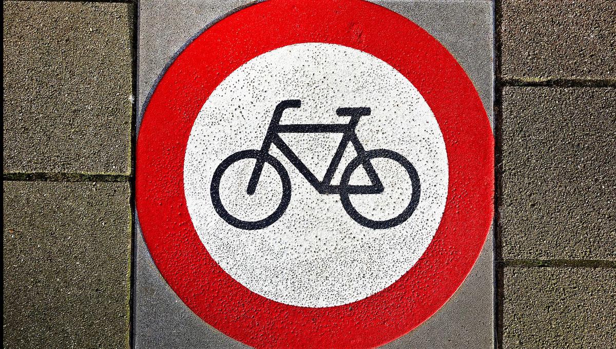 Radfahren verboten